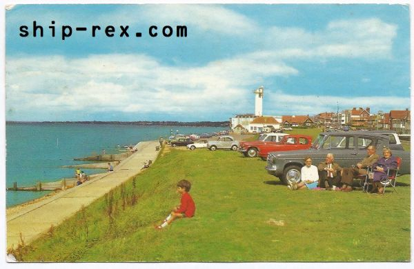 Lee-On-Solent, Beach and Tower - postcard